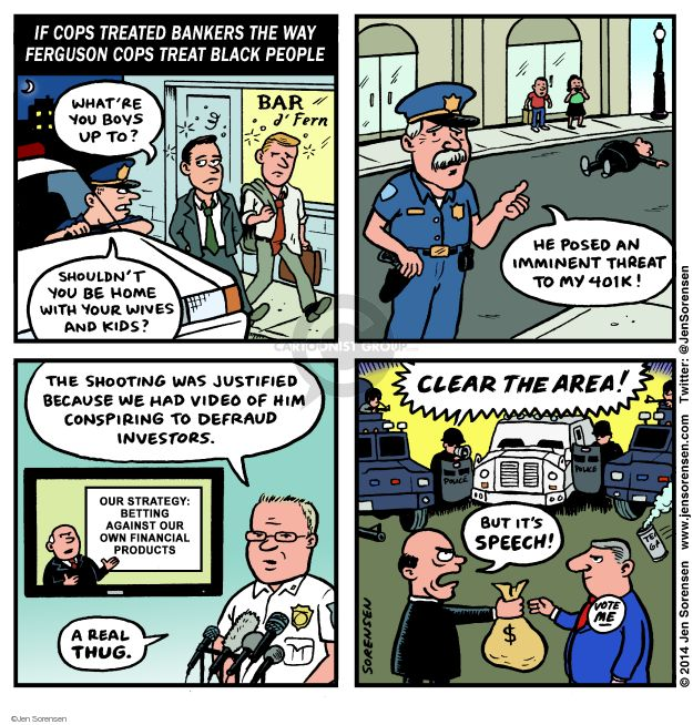 Cartoonist Jen Sorensen  Jen Sorensen's Editorial Cartoons 2014-08-25 financial