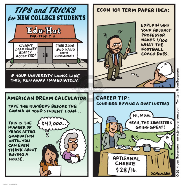 Cartoonist Jen Sorensen  Jen Sorensen's Editorial Cartoons 2014-09-01 profit