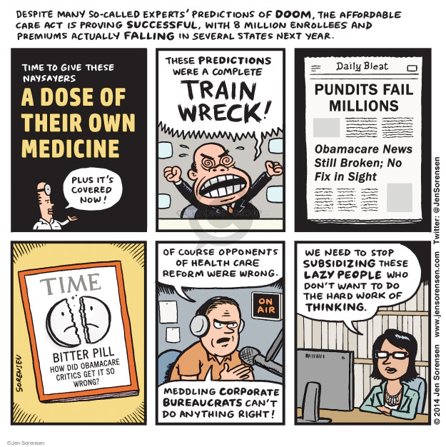 Cartoonist Jen Sorensen  Jen Sorensen's Editorial Cartoons 2014-09-22 health care reform