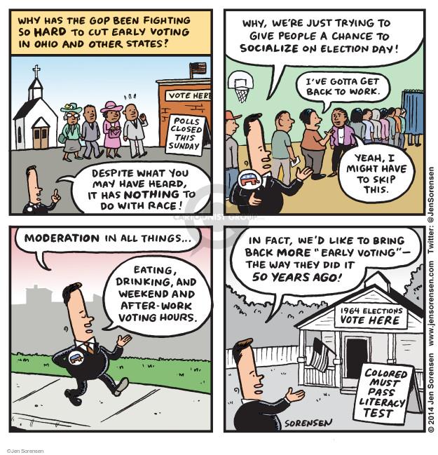 Jen Sorensen  Jen Sorensen's Editorial Cartoons 2014-10-06 voting rights