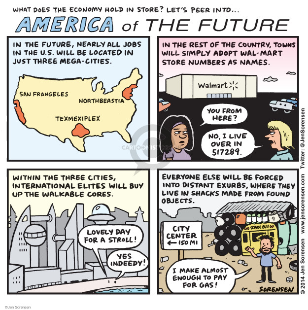 Jen Sorensen  Jen Sorensen's Editorial Cartoons 2014-10-13 employment
