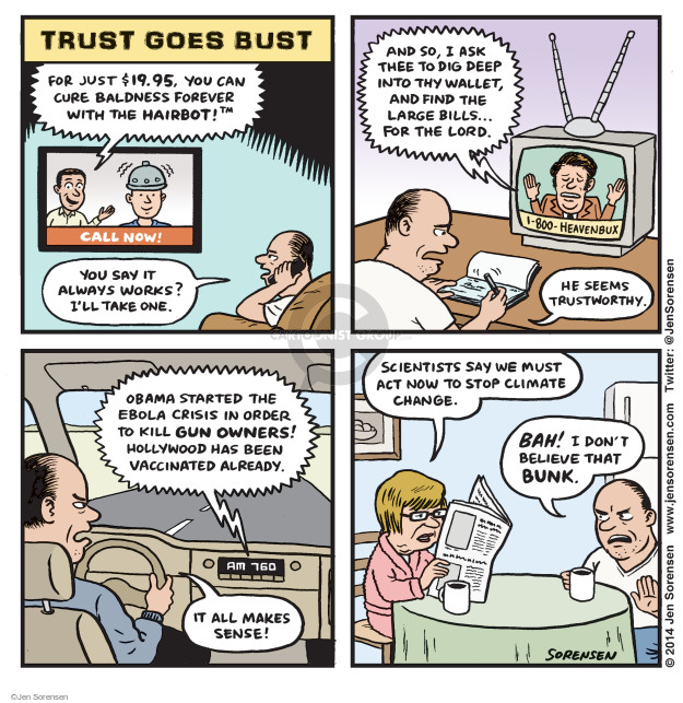 Jen Sorensen  Jen Sorensen's Editorial Cartoons 2014-10-27 climate change science