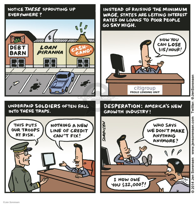 Cartoonist Jen Sorensen  Jen Sorensen's Editorial Cartoons 2014-11-03 financial