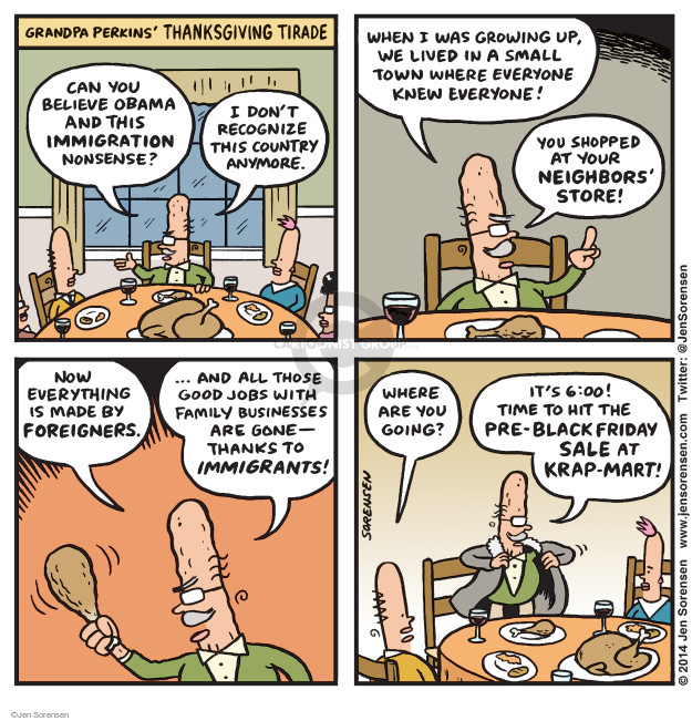 Cartoonist Jen Sorensen  Jen Sorensen's Editorial Cartoons 2014-11-24 nostalgia