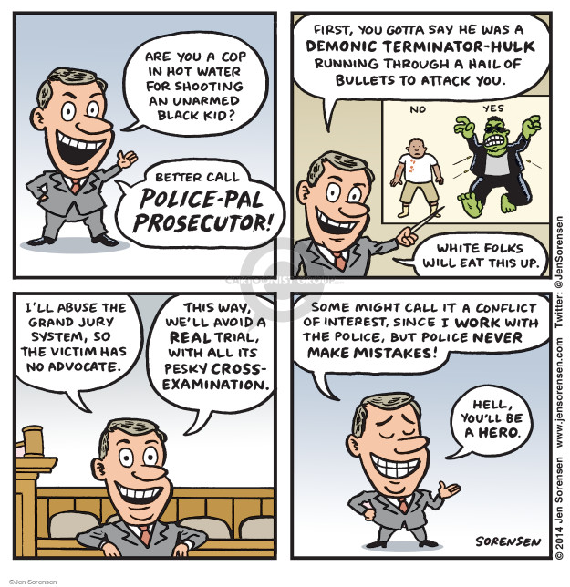 Cartoonist Jen Sorensen  Jen Sorensen's Editorial Cartoons 2014-12-01 police