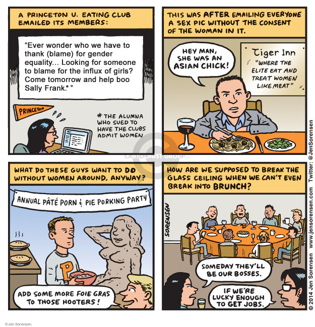 Cartoonist Jen Sorensen  Jen Sorensen's Editorial Cartoons 2014-12-08 women's issues