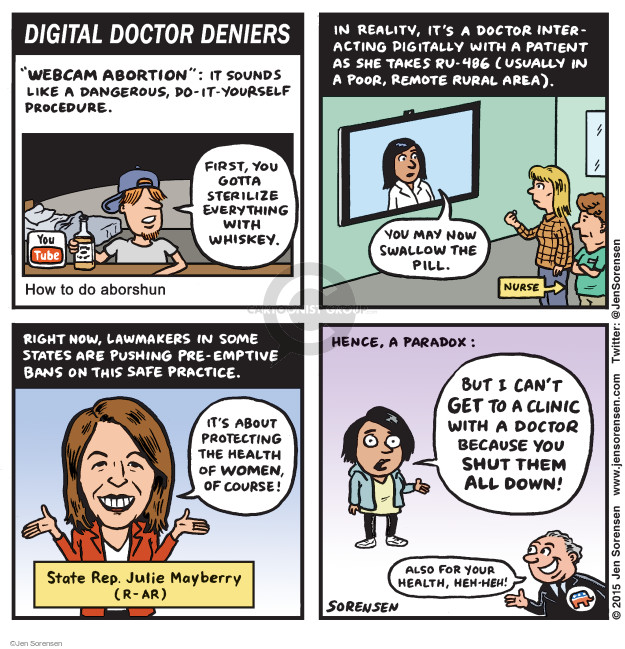 Cartoonist Jen Sorensen  Jen Sorensen's Editorial Cartoons 2015-02-02 women's health