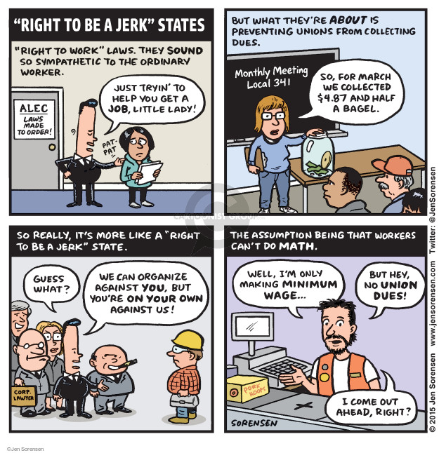 Jen Sorensen  Jen Sorensen's Editorial Cartoons 2015-03-02 employment