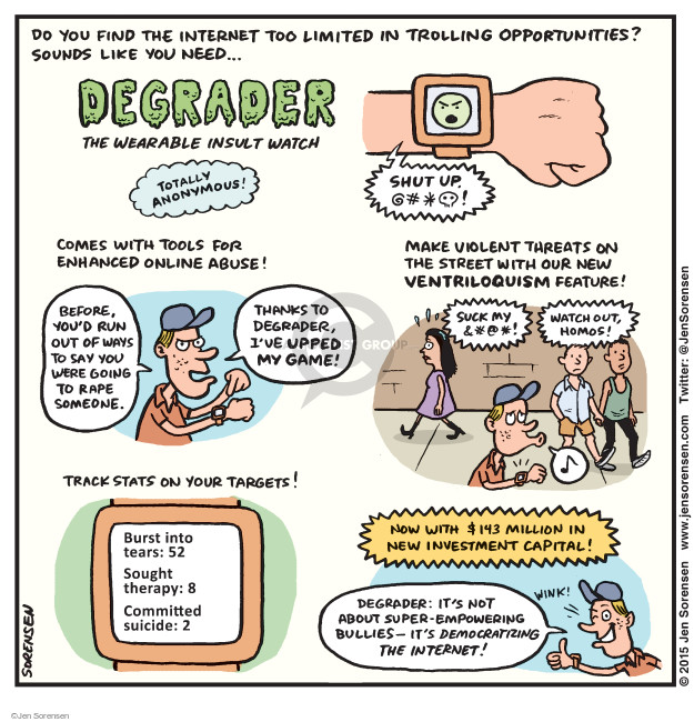 Jen Sorensen  Jen Sorensen's Editorial Cartoons 2015-03-16 wearable