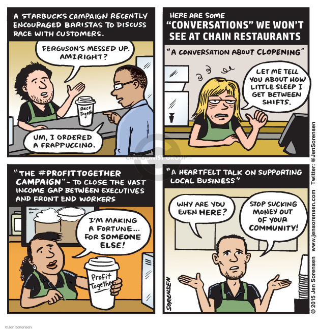 Cartoonist Jen Sorensen  Jen Sorensen's Editorial Cartoons 2015-03-23 racism