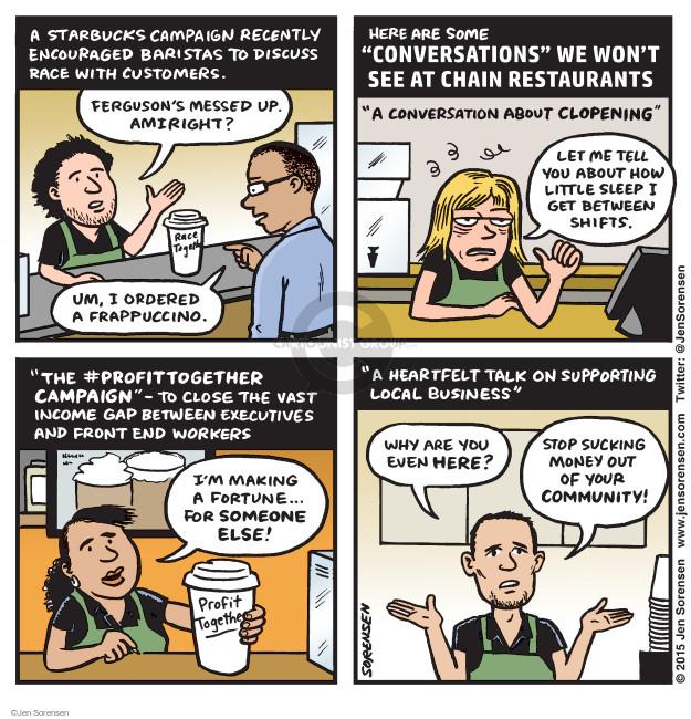 Cartoonist Jen Sorensen  Jen Sorensen's Editorial Cartoons 2015-03-23 race