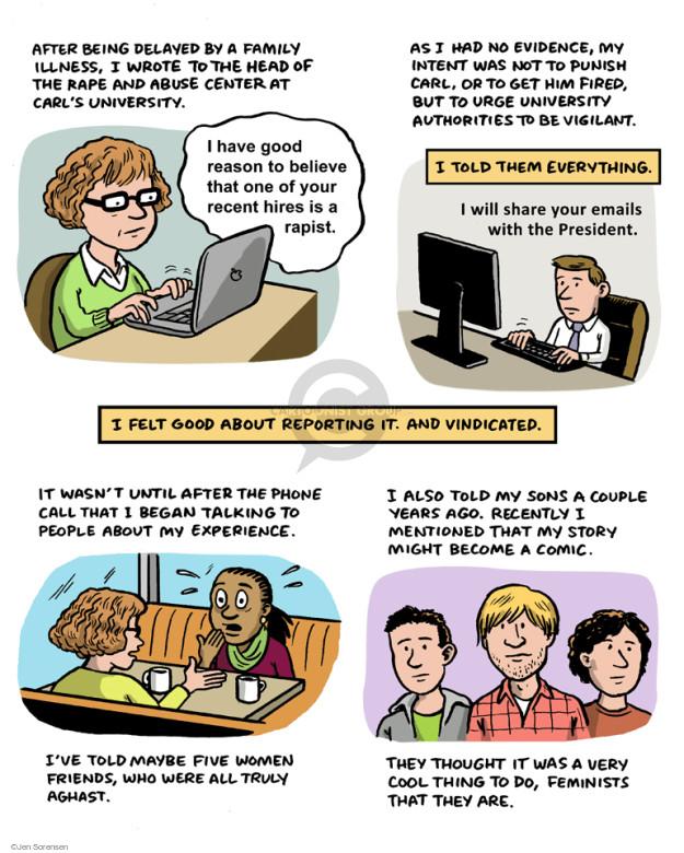 Cartoonist Jen Sorensen  Jen Sorensen's Editorial Cartoons 2015-03-25 university