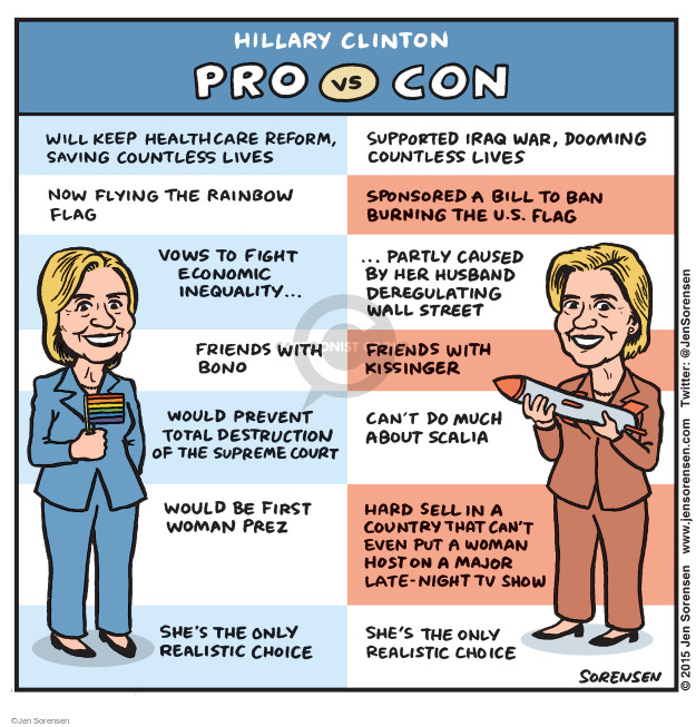 Cartoonist Jen Sorensen  Jen Sorensen's Editorial Cartoons 2015-04-13 total