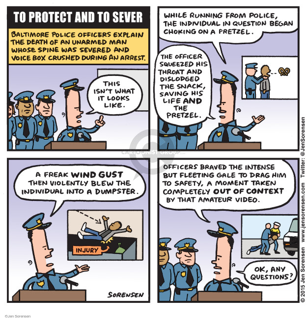 Cartoonist Jen Sorensen  Jen Sorensen's Editorial Cartoons 2015-04-27 death
