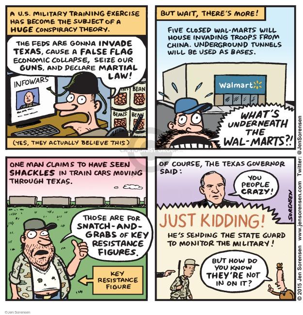 Jen Sorensen  Jen Sorensen's Editorial Cartoons 2015-05-04 gun