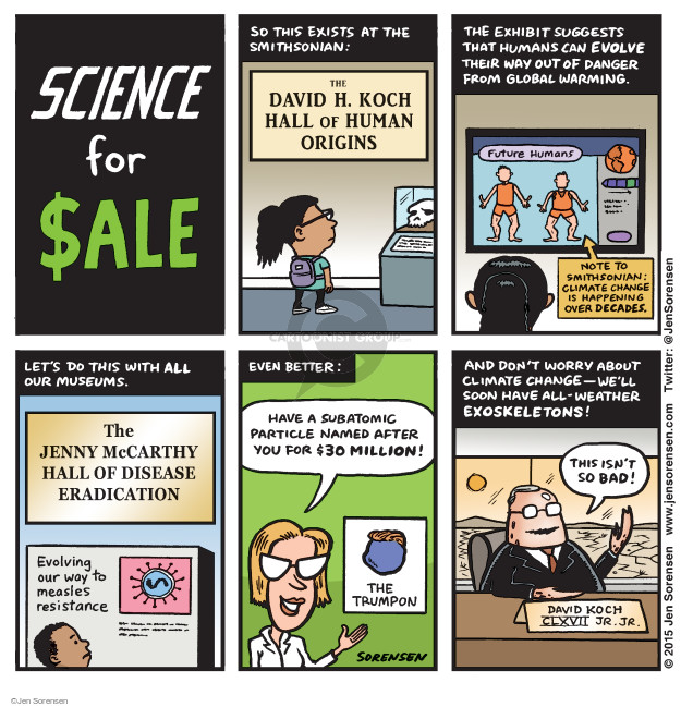 Jen Sorensen  Jen Sorensen's Editorial Cartoons 2015-05-11 climate change science