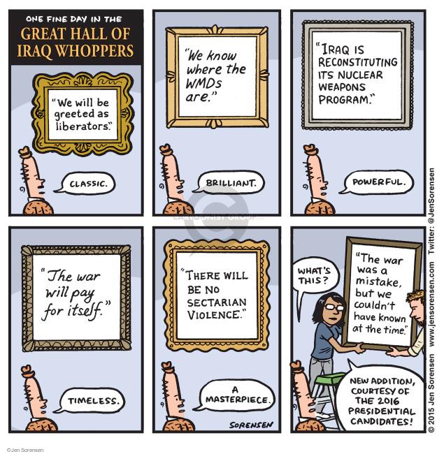 Cartoonist Jen Sorensen  Jen Sorensen's Editorial Cartoons 2015-05-18 presidential election