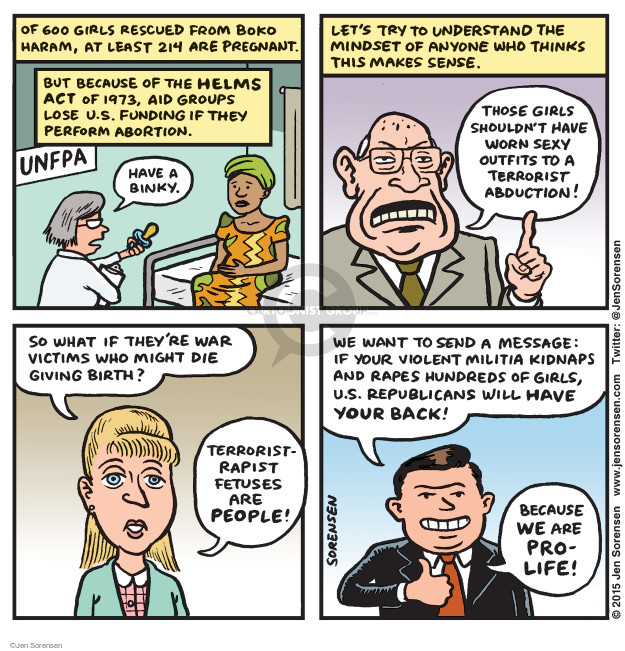Jen Sorensen  Jen Sorensen's Editorial Cartoons 2015-05-25 act