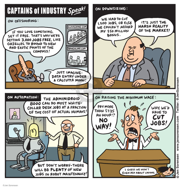 Jen Sorensen  Jen Sorensen's Editorial Cartoons 2015-06-22 employment