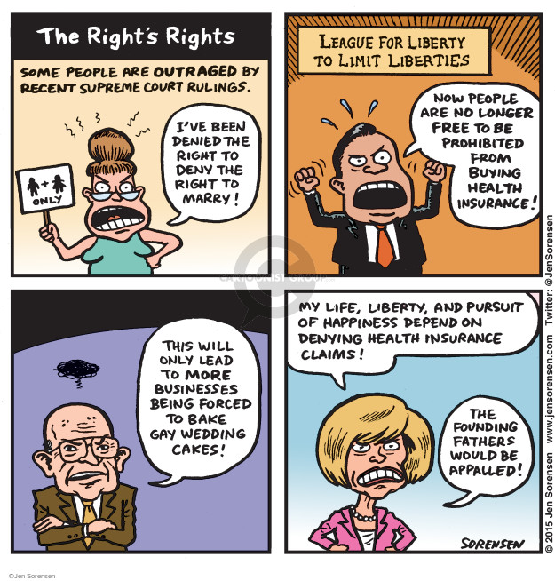 Cartoonist Jen Sorensen  Jen Sorensen's Editorial Cartoons 2015-06-29 judicial branch