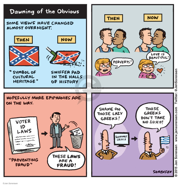 Jen Sorensen  Jen Sorensen's Editorial Cartoons 2015-07-06 voting rights