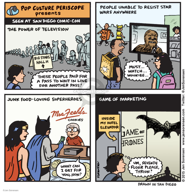 Cartoonist Jen Sorensen  Jen Sorensen's Editorial Cartoons 2015-07-13 watch television