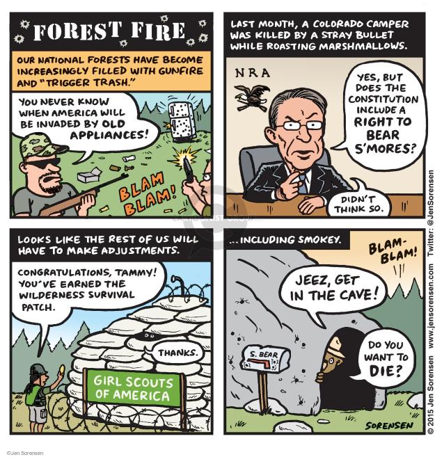 Jen Sorensen  Jen Sorensen's Editorial Cartoons 2015-08-24 gun