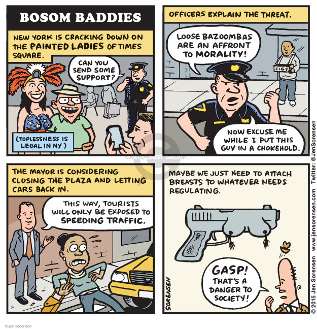 Cartoonist Jen Sorensen  Jen Sorensen's Editorial Cartoons 2015-08-31 police
