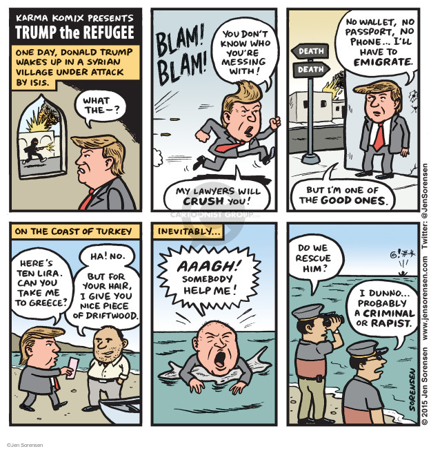 Cartoonist Jen Sorensen  Jen Sorensen's Editorial Cartoons 2015-09-07 death