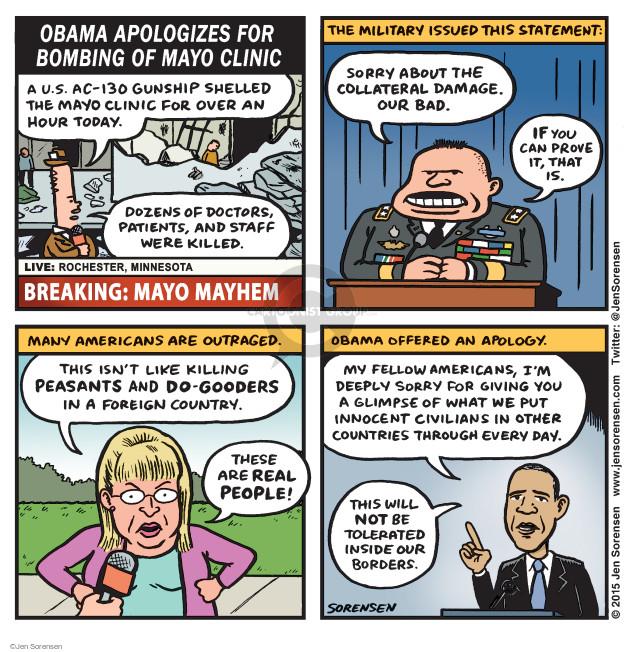 Cartoonist Jen Sorensen  Jen Sorensen's Editorial Cartoons 2015-10-12 bombing