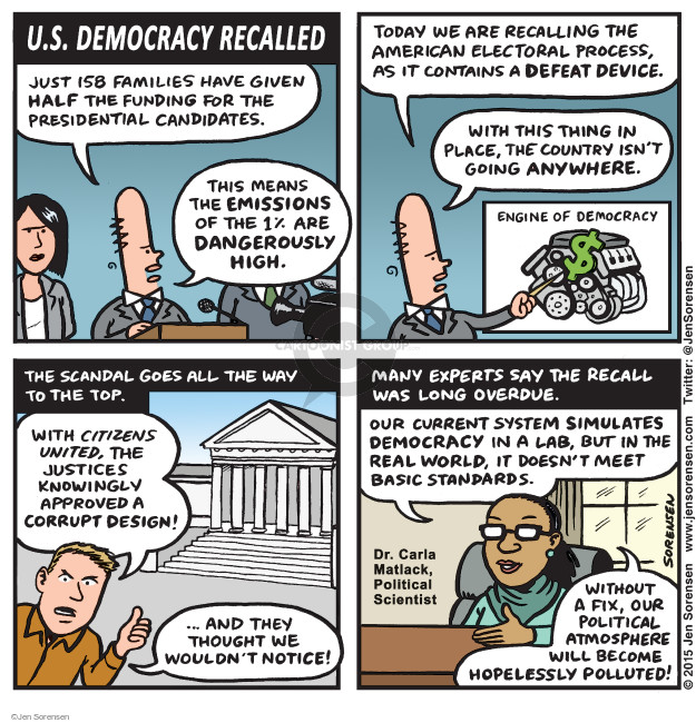 Cartoonist Jen Sorensen  Jen Sorensen's Editorial Cartoons 2015-10-26 political scandal