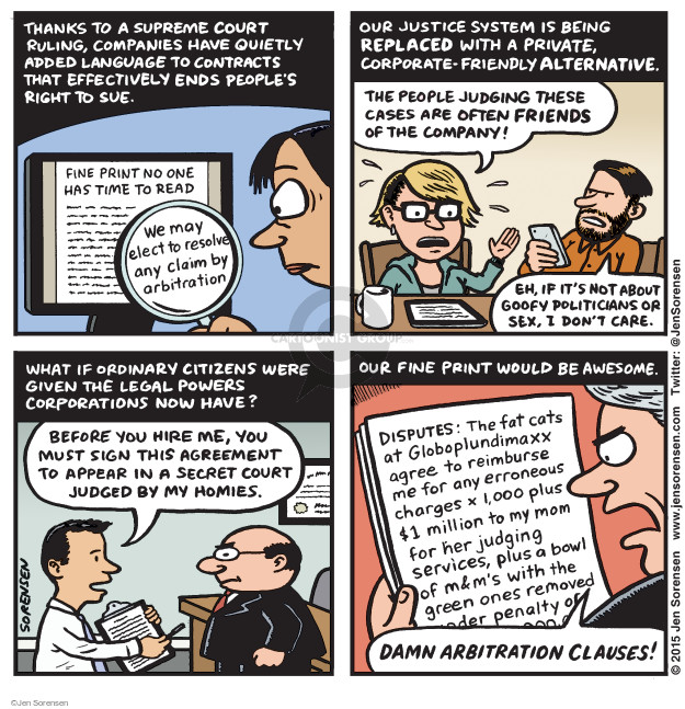 Cartoonist Jen Sorensen  Jen Sorensen's Editorial Cartoons 2015-11-09 corporate