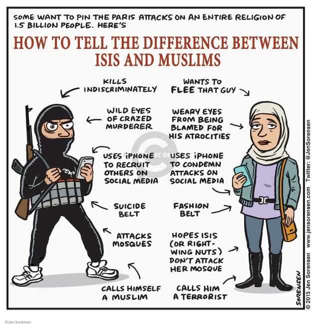 Cartoonist Jen Sorensen  Jen Sorensen's Editorial Cartoons 2015-11-16 religious