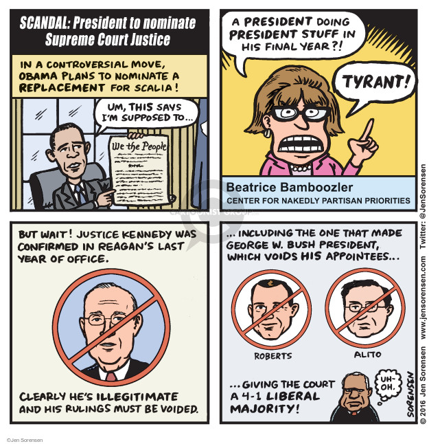 Cartoonist Jen Sorensen  Jen Sorensen's Editorial Cartoons 2016-02-15 Bush term