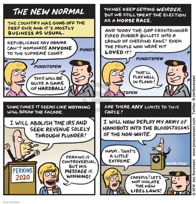 Cartoonist Jen Sorensen  Jen Sorensen's Editorial Cartoons 2016-02-29 presidential election