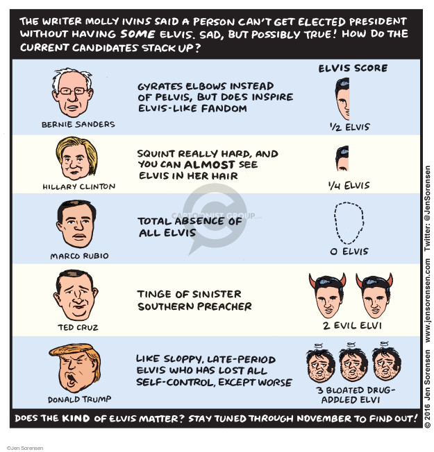 Cartoonist Jen Sorensen  Jen Sorensen's Editorial Cartoons 2016-03-14 presidential election