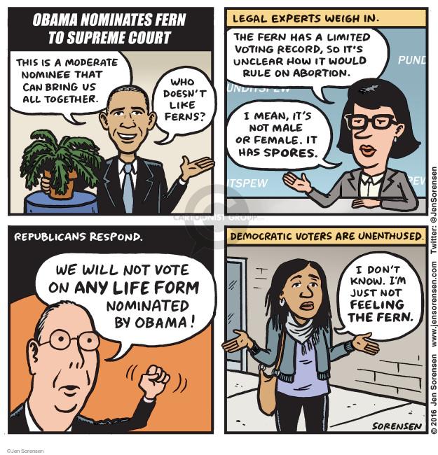 Cartoonist Jen Sorensen  Jen Sorensen's Editorial Cartoons 2016-03-21 Supreme Court