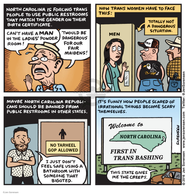 Cartoonist Jen Sorensen  Jen Sorensen's Editorial Cartoons 2016-03-28 fear