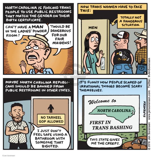 Jen Sorensen  Jen Sorensen's Editorial Cartoons 2016-03-28 bigotry