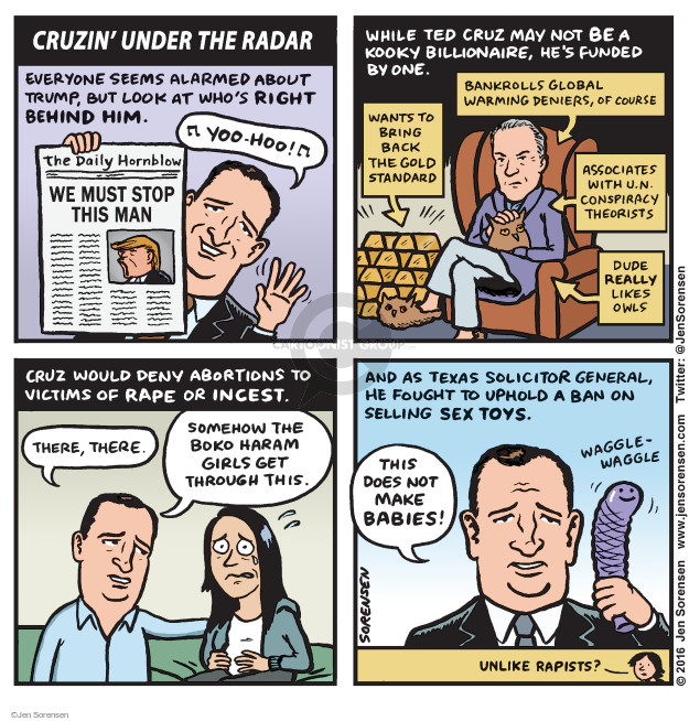 Cartoonist Jen Sorensen  Jen Sorensen's Editorial Cartoons 2016-04-18 presidential election