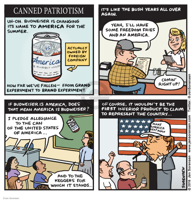 Cartoonist Jen Sorensen  Jen Sorensen's Editorial Cartoons 2016-05-23 presidential election
