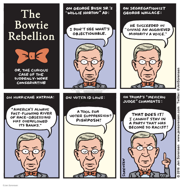 Jen Sorensen  Jen Sorensen's Editorial Cartoons 2016-06-27 2016 election Jeb Bush