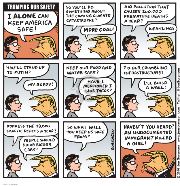 Cartoonist Jen Sorensen  Jen Sorensen's Editorial Cartoons 2016-07-25 presidential election