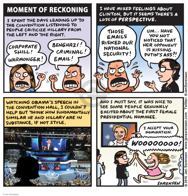 Cartoonist Jen Sorensen  Jen Sorensen's Editorial Cartoons 2016-08-01 presidential election