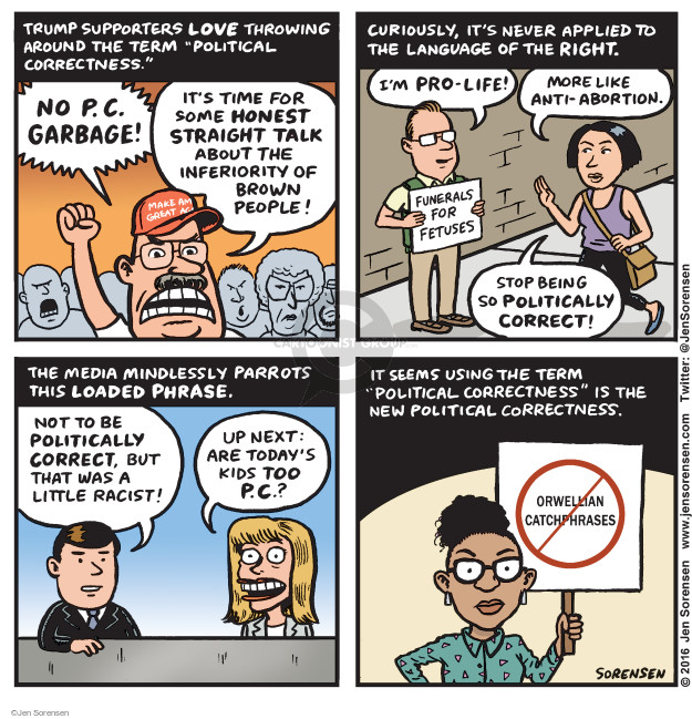 Cartoonist Jen Sorensen  Jen Sorensen's Editorial Cartoons 2016-08-08 racism