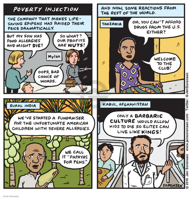 Cartoonist Jen Sorensen  Jen Sorensen's Editorial Cartoons 2016-09-05 profit
