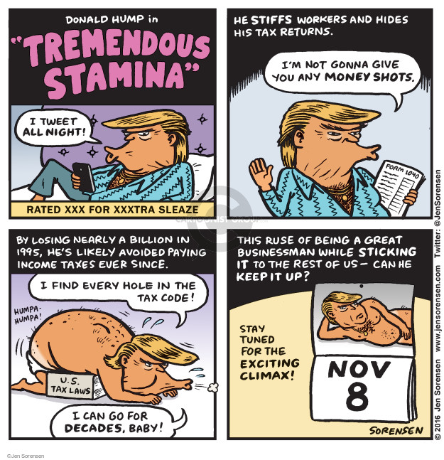 Cartoonist Jen Sorensen  Jen Sorensen's Editorial Cartoons 2016-10-03 presidential election