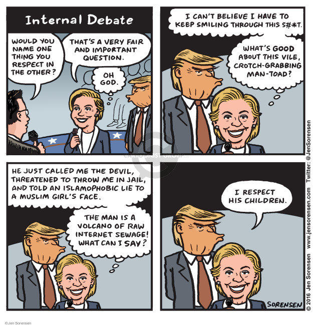 Cartoonist Jen Sorensen  Jen Sorensen's Editorial Cartoons 2016-10-10 presidential election