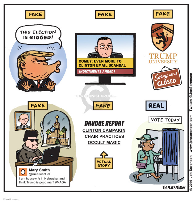Cartoonist Jen Sorensen  Jen Sorensen's Editorial Cartoons 2016-11-07 political scandal