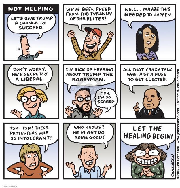Cartoonist Jen Sorensen  Jen Sorensen's Editorial Cartoons 2016-11-14 2016 election